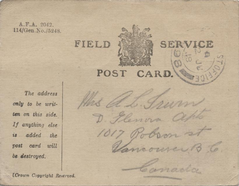 Fill-In Postcard, front