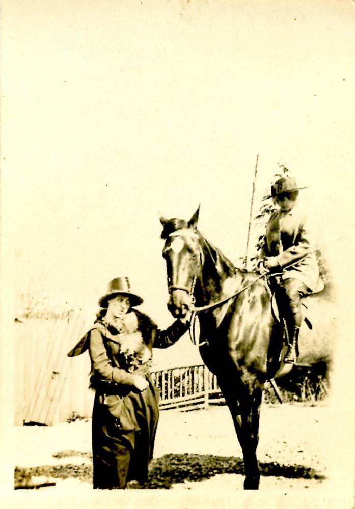 Greta, Hayzel, and the Horse, front