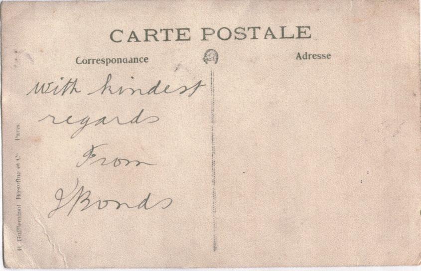 Bonds, Iden, Postcard, nd, back