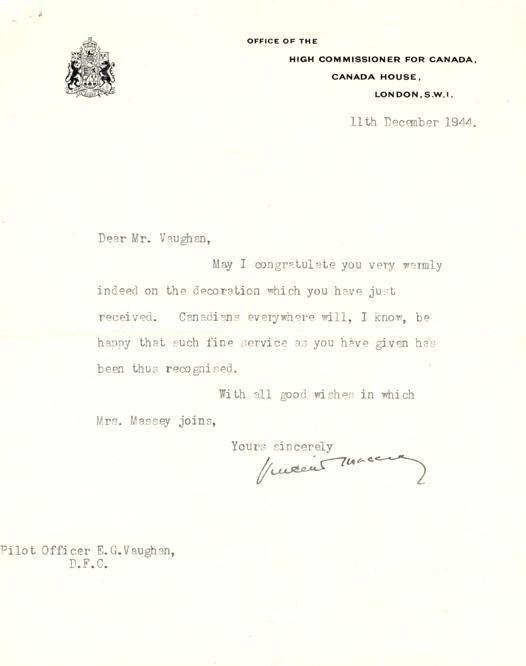 Congratulation letter, December 11, 1944.