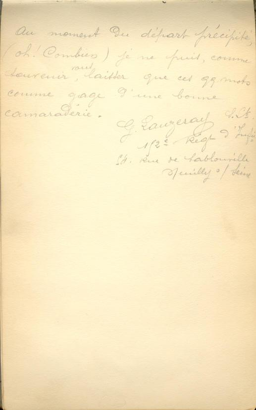 Memory book message, page 16