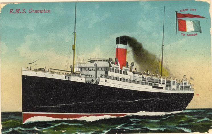 RMS Grampain October 14, 1914 Front