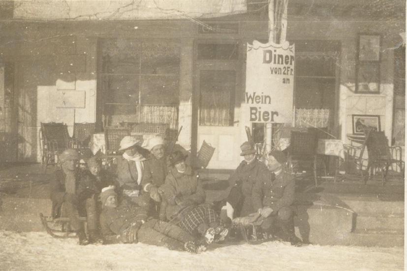 Annie, John, and others, Switzerland, 1917