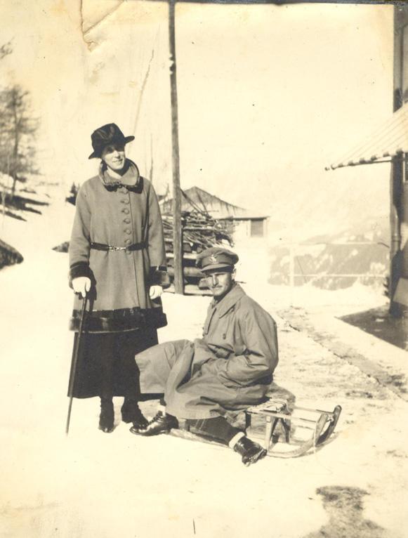 Annie and John, Switzerland, 1917