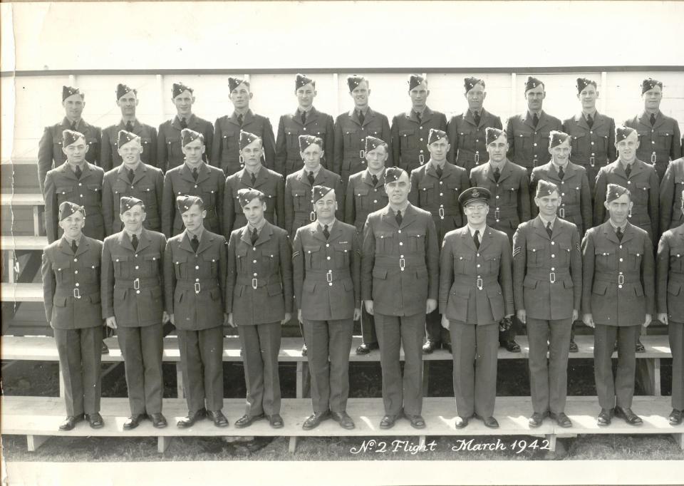 Flight Training, Manning Depot, March, 1942, left side