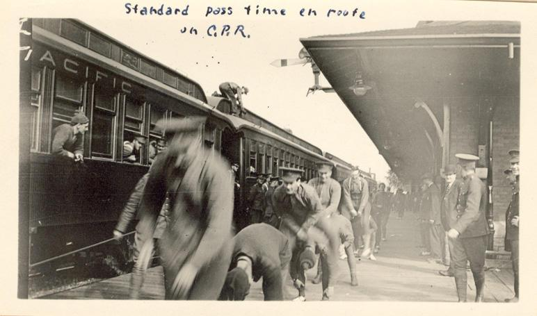 """""""Standard Pass Time"""" en route on C.P.R. Front only"""