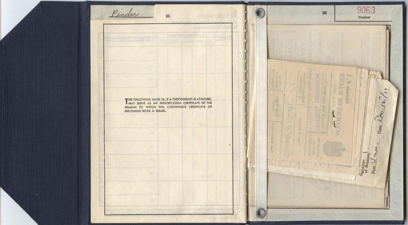 Pinder. discharge certificate. pp.25-26