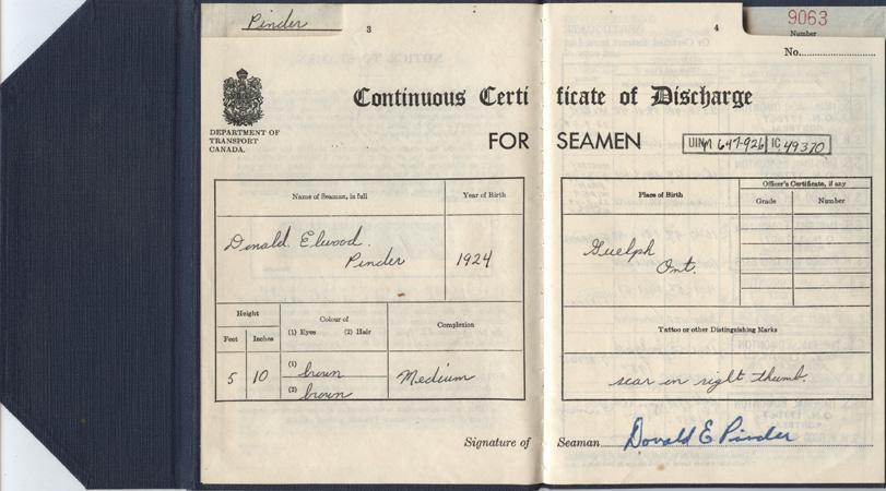 Pinder. Discharge certificate. pp.3-4