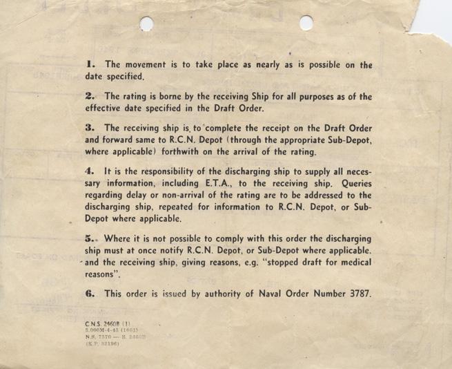 Pinder. Draft order. 1945