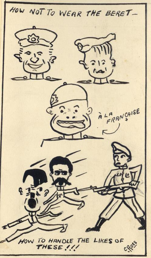 #1 Random Sketches by Colin Sewell Ross (Son of James Ross refer WWI collection) ca. WWII