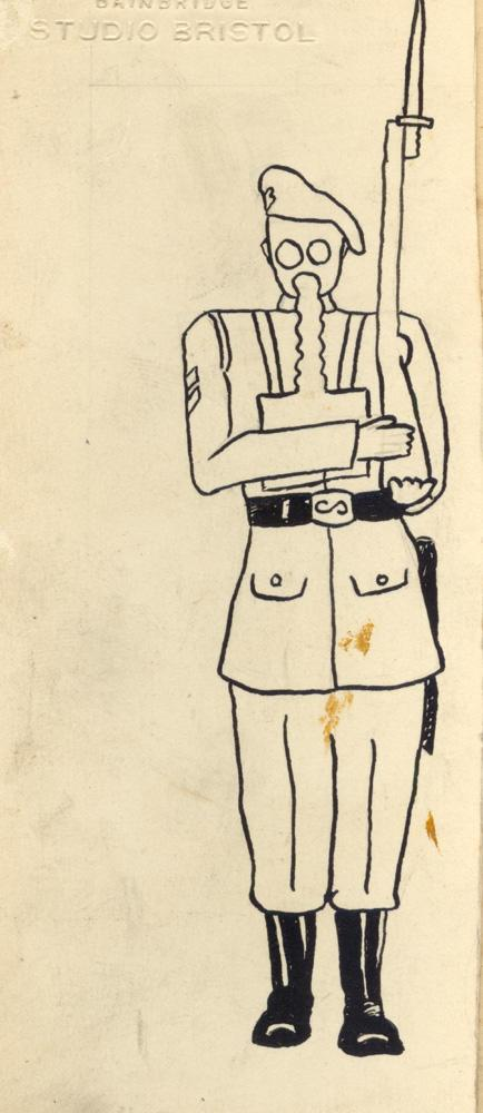 #3 Random Sketches by Colin Sewell Ross (Son of James Ross refer WWI collection) ca. WWII